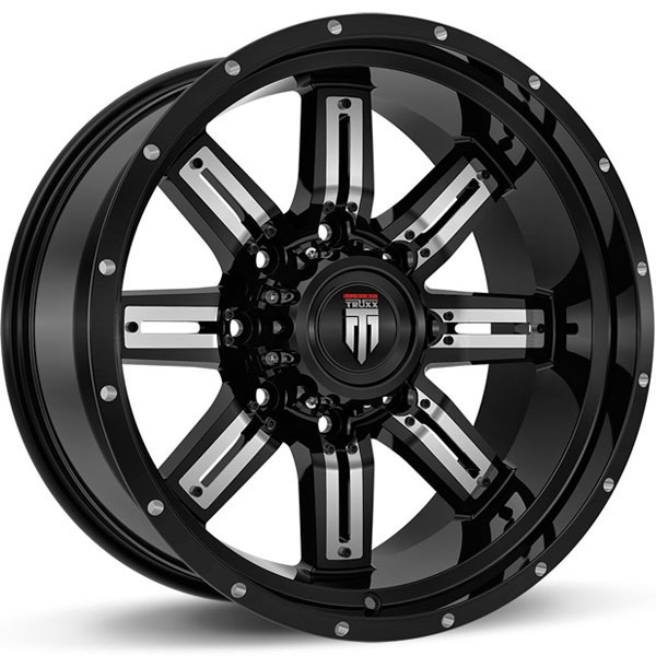 American Truxx AT 153-Steel Black with Chrome Inserts