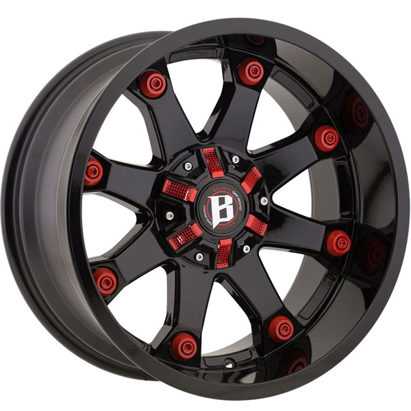 Ballistic Beast 581 Gloss Black with Red Accents