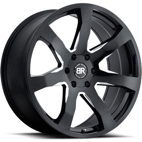 Black Rhino Mozambique Gloss Black with Milled Spokes