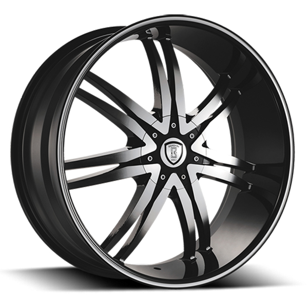 Borghini B14-M Black with Machined Face and Stripe