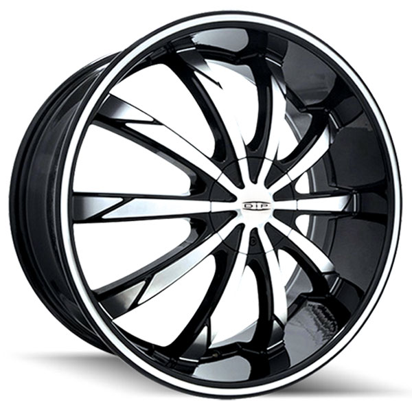 Dip D66 Slack Black with Machined Face and Stripe