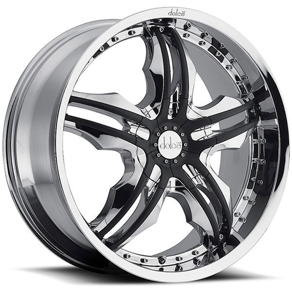 Dolce DC46 Chrome with Black Inserts