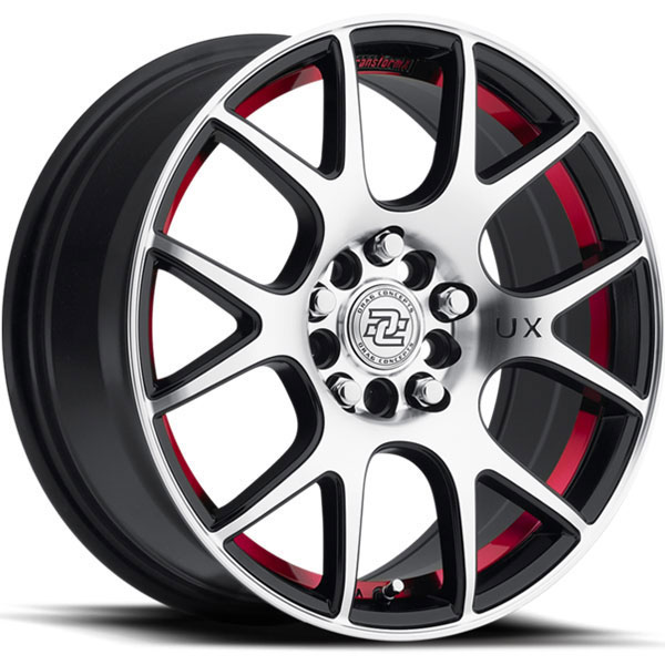 Drag Concepts R19 Gloss Black with Machined Face and Red Stripe