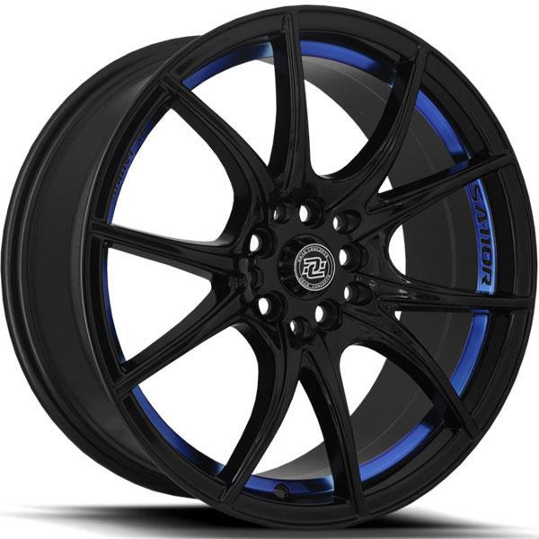 Drag Concepts R27 Gloss Black with Blue Undercut