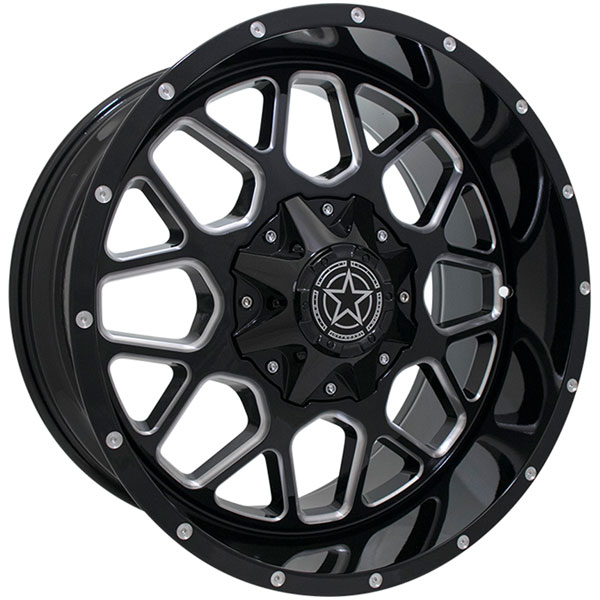DWG Offroad DW14 Gloss Black with Milled Spokes