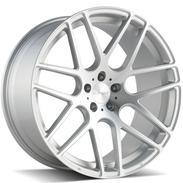 Element EL006 Silver with Machined Face