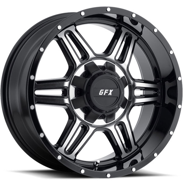 G-FX TR6 Gloss Black with Machined Face