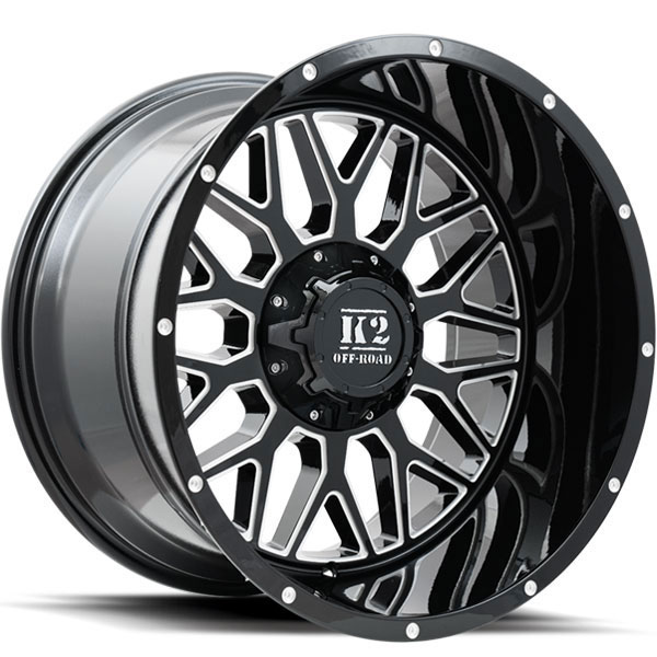 K2 OffRoad K08 Warrior Gloss Black with Milled Spokes