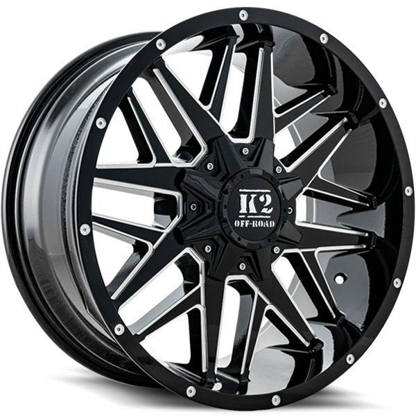 K2 OffRoad K15 Mayhem Gloss Black with Milled Spokes
