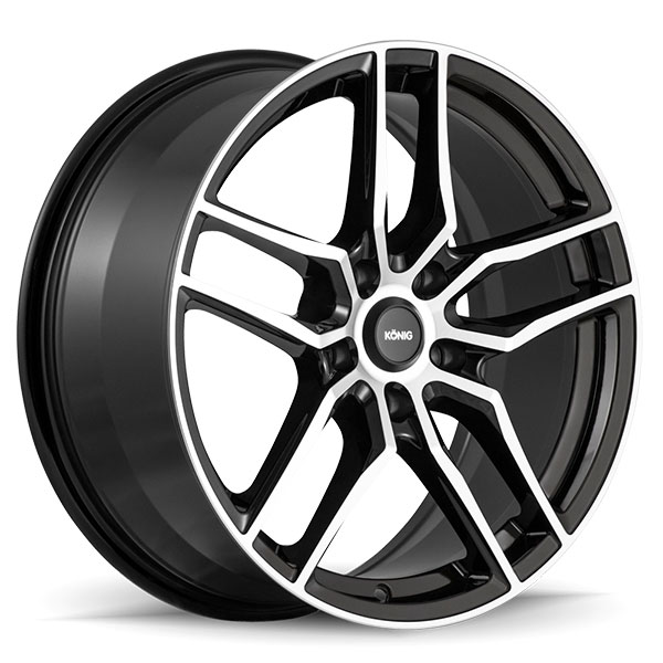 Konig Intention Gloss Black with Machined Face