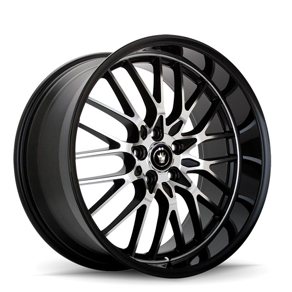 Konig Lace Gloss Black with Machined Face