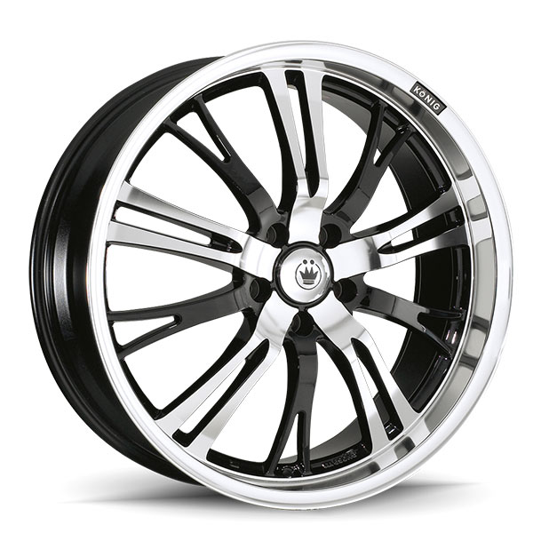 Konig Unknown Gloss Black with Mirror Machined Face