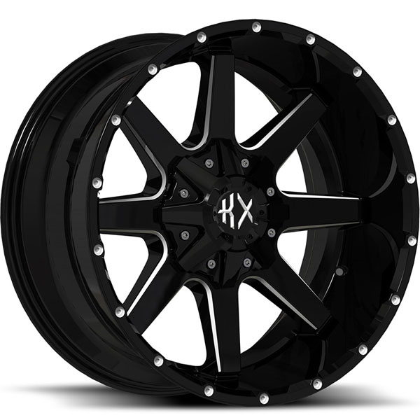 KX Offroad KX01 Gloss Black with Milled Spokes