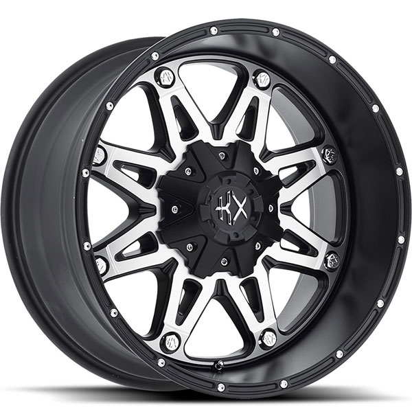 KX Offroad KX02 Matte Black with Machined Face