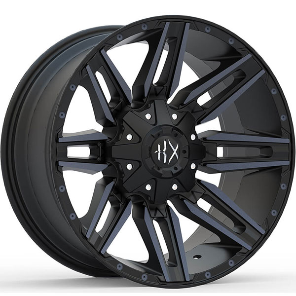 KX Offroad KX10 Matte Black with Machined Face and Black Tint