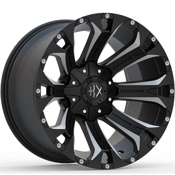 KX Offroad KX11 Matte Black with Milled Spokes