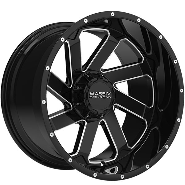Massiv Offroad OR4 Gloss Black with Milled Spokes