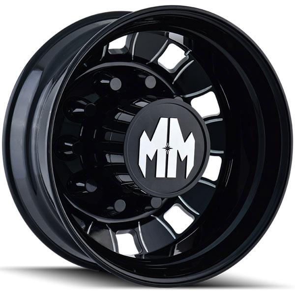 Mayhem BigRig Black with Milled Spokes Rear