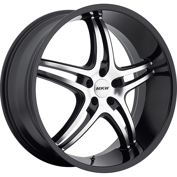 MKW M113 Gloss Black with Machined Face and Black Lip