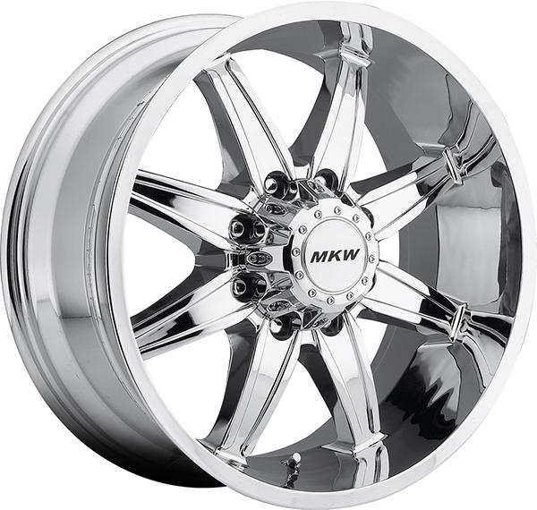 MKW M89 Chrome 8 Lug