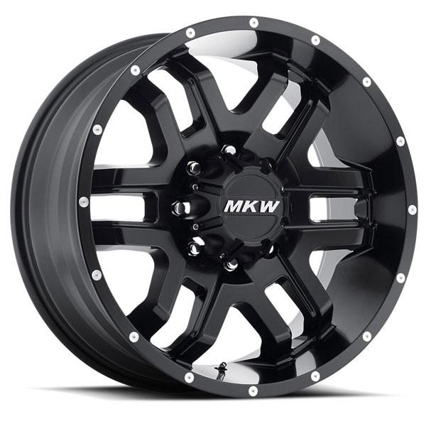 MKW M93 Satin Black 8 Lug