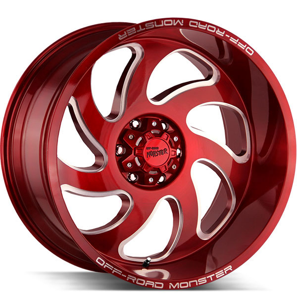 Off-Road Monster M07 Candy Apple Red with Milled Spokes