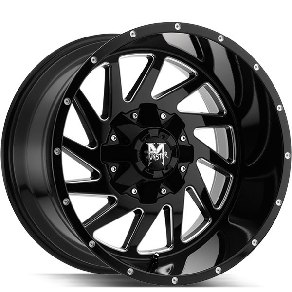 Off-Road Monster M12 Gloss Black with Milled Edges