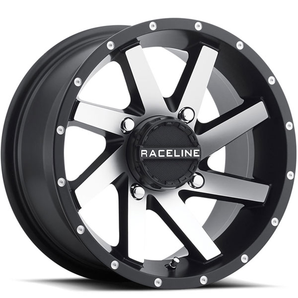 Raceline A82M Twist UTV Satin Black with Machined Face