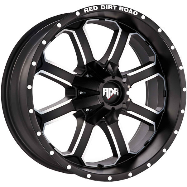 Red Dirt Road RD01 Dirt Satin Black with Machined Face