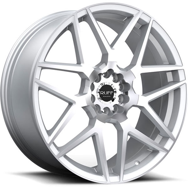 Ruff Racing R351 Hyper Silver with Machined Face