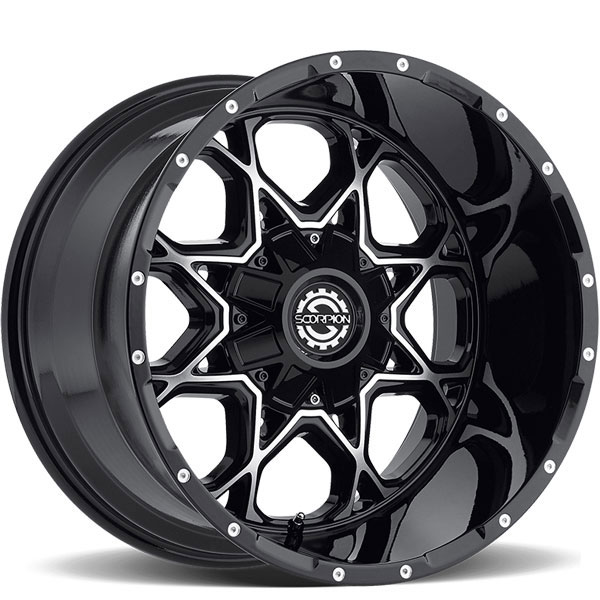 Scorpion Off-Road SC-10 Black with Machined Face