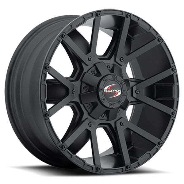Scorpion Off-Road SC-9 Matte Black with Inserts