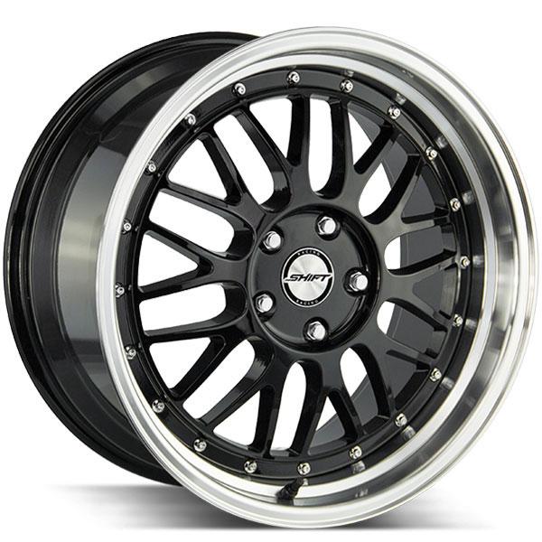 Shift Flywheel Gloss Black with Polished Lip