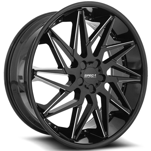 Spec-1 SPL-003 Gloss Black Milled with Milled Lip