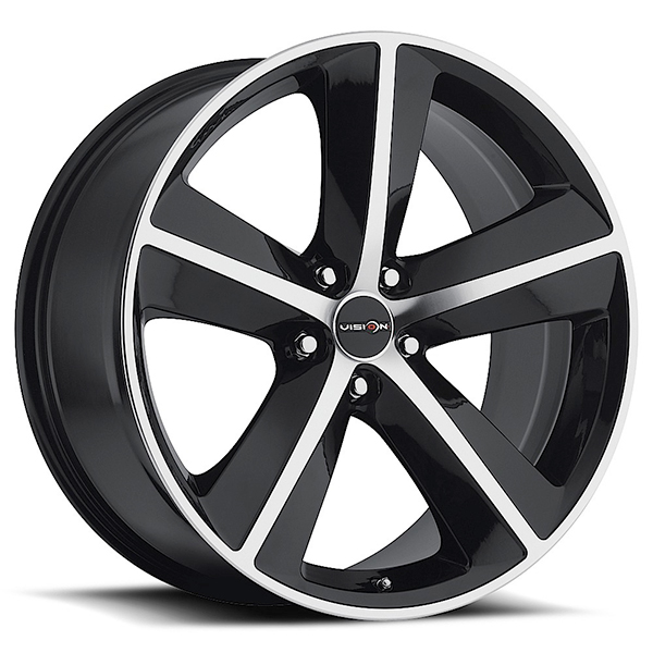 Sport Concepts 859 Gloss Black with Machined Face and Lip