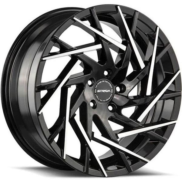 Strada Nido Gloss Black with Machined Tips