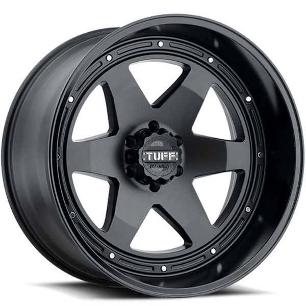 Tuff T1A Matte Black with Gloss Black Lip