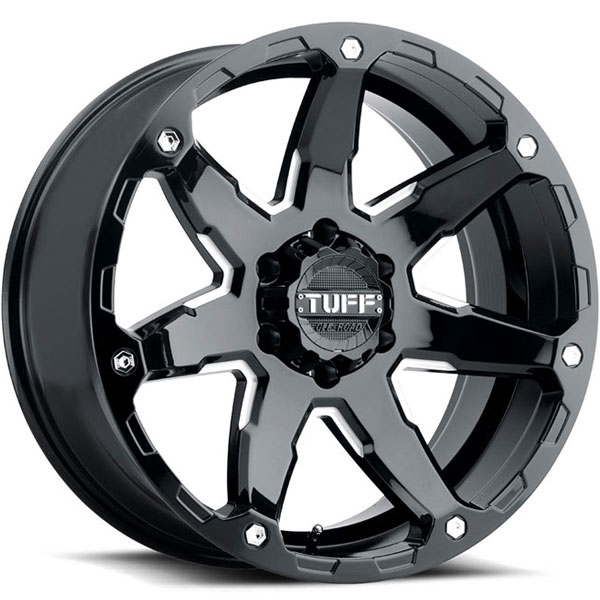 Tuff T4A Gloss Black with Milled Spokes