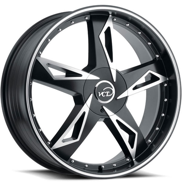 VCT V84 Satin Black with Machined Face