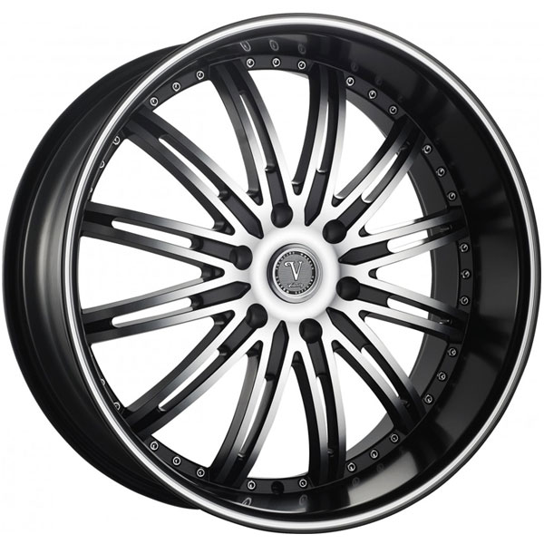 Velocity VW 865B Black with Machined Face and Stripe