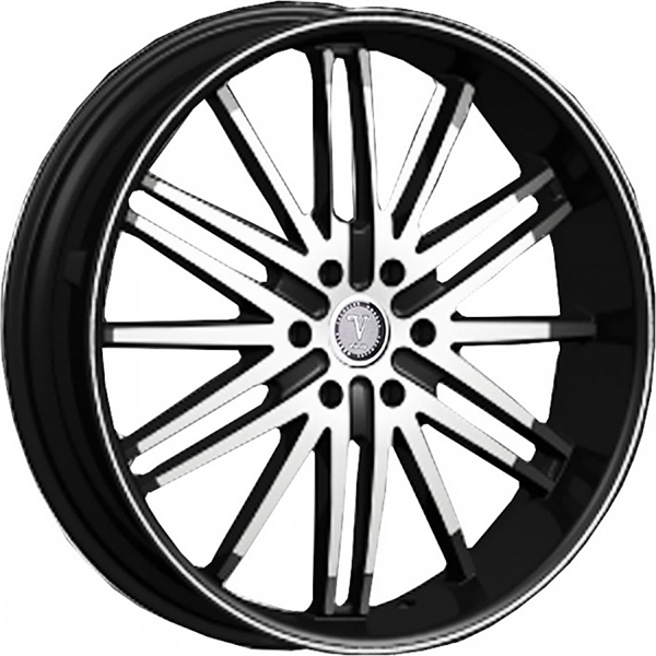 Velocity VW 910B Black with Machined Face and Stripe