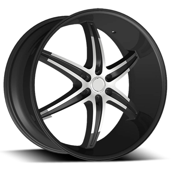 Velocity VW 925B Black with Machined Face and Stripe