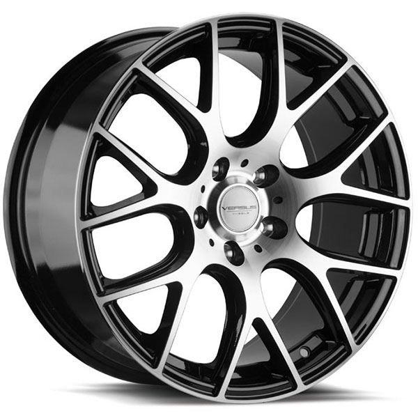 Versus VS301 Gloss Black with Machined Face