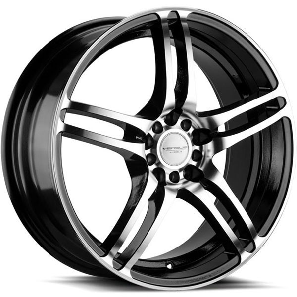 Versus VS454 Gloss Black with Machined Face