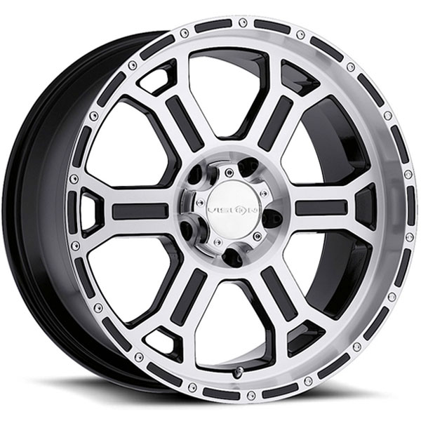 Vision 372 Raptor Gloss Black with Machined Face