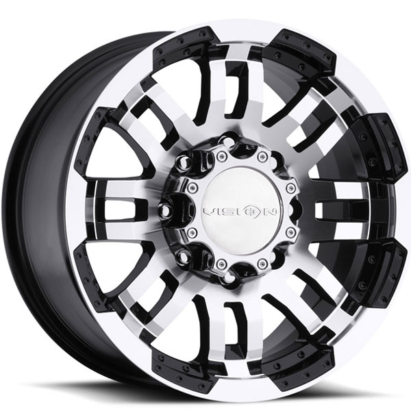 Vision 375 Warrior Gloss Black with Machined Face