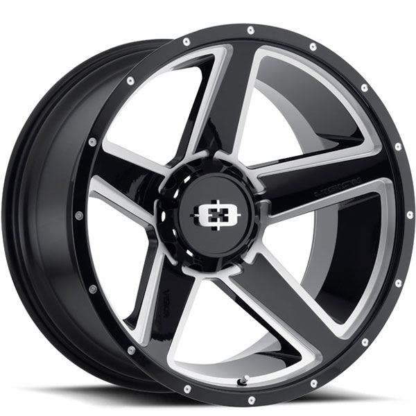 Vision 390 Empire Gloss Black Milled