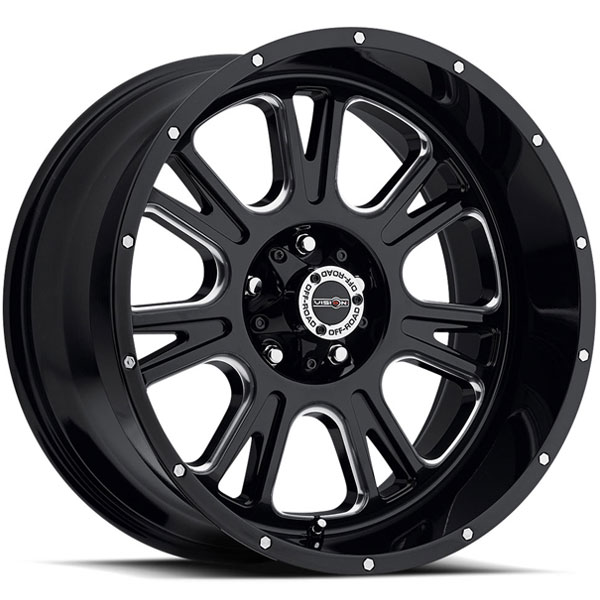 Vision 399 Fury Gloss Black with Milled Spokes V2