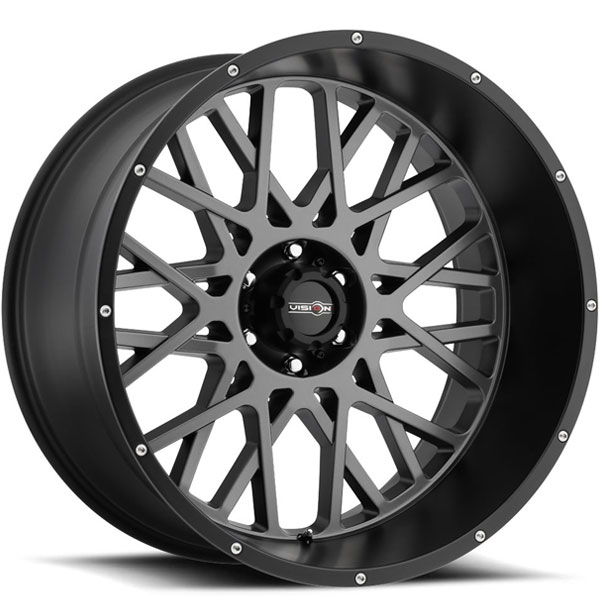 Vision 412 Rocker Anthracite with Satin Black and Chrome Bolts