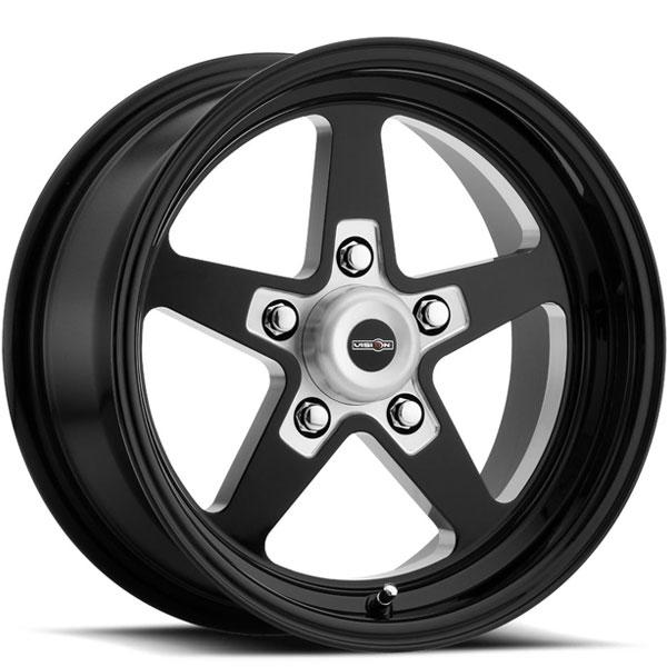 Vision 571 Sport Star II Gloss Black Milled